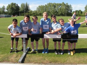 Steeple Morden athletes, this years runners up.
