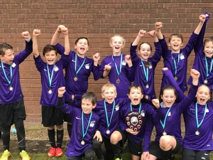 Meldreth celebrate winning the Small Schools rugby competition