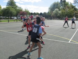 Action from the A Team Shield finals
