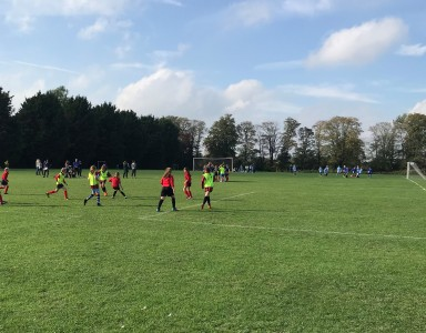 Action from the girls competition