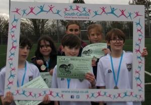One of the winning Histon & Impington Junior Teams.