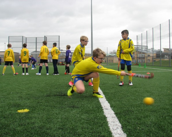 Children taking part in the shooting challenge.