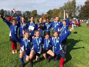 Histon & Impington girls celebrate their win!